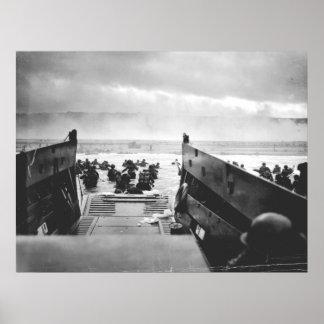 Poster Plage d'Omaha, Normandie, le jour J 1944