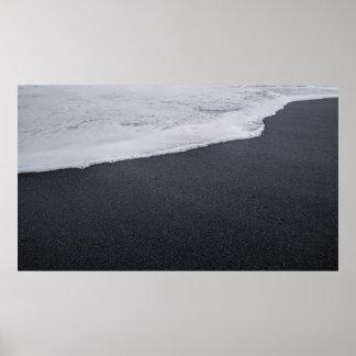 Poster Plage noire de sable