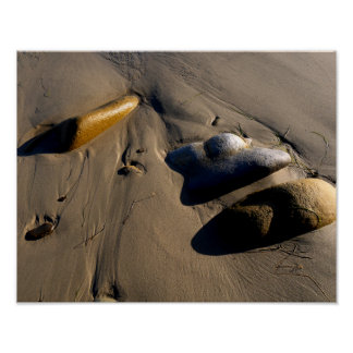 Poster Plage/sable/pierres/roches/cailloux