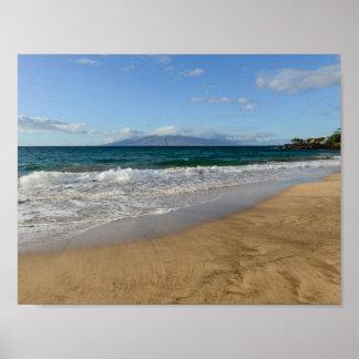Poster Plage tropicale dans Maui Hawaï