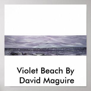 Poster Plage violette par David Maguire