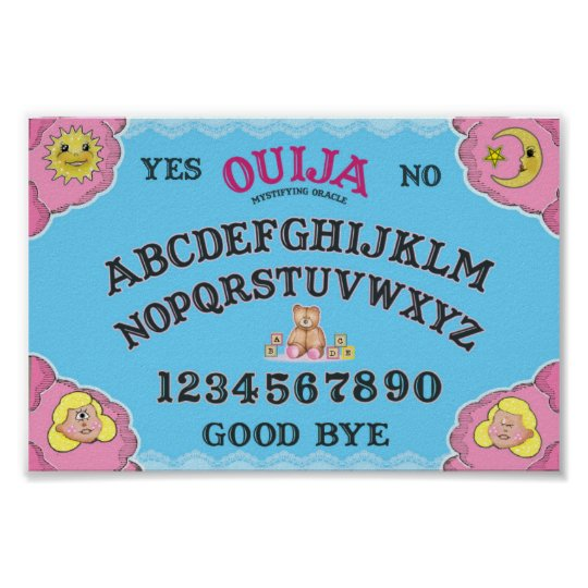 Poster Planche Ouija girly