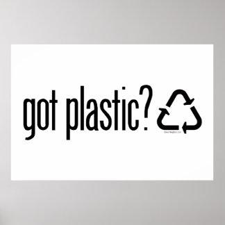 Poster plastique obtenu ? Réutilisation du signe