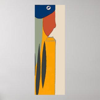 Poster Plume abstraite deux de Natif américain