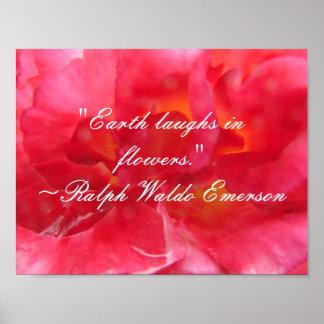 Poster Poème de citation d'Emerson