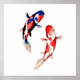 Poster Poissons rouges de Koi