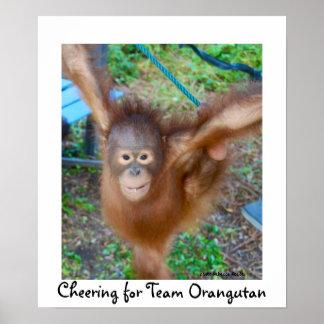 Poster Pom-pom girl : Orang-outan d'équipe