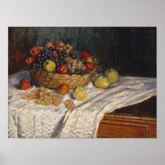 Poster Pommes et raisins