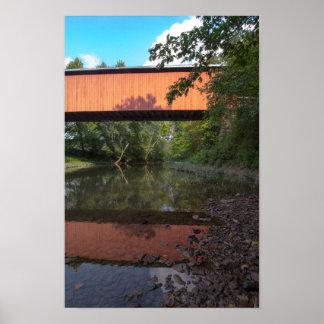 Poster Pont couvert de Hune, Ohio