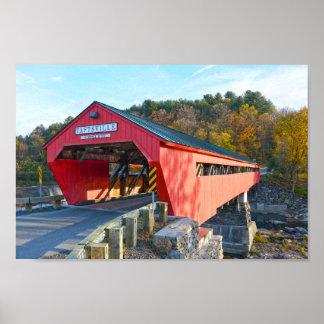 Poster Pont couvert de Taftsville, Vermont