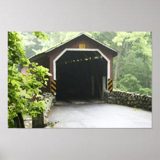 Poster Pont couvert en bois Lancaster Penn de moulin de