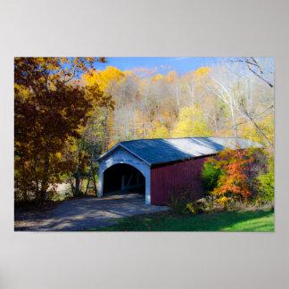 Poster Pont couvert le comté de Parke, Indiana d'étroit