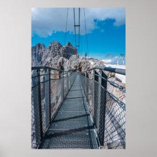 Poster Pont dans les Alpes