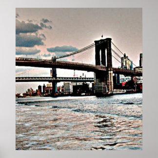 Poster Pont de Brooklyn