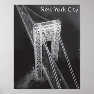 Poster Pont de George Washington New York City