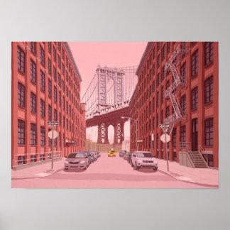 Poster Pont de Manhattan