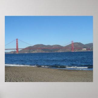 Poster Pont San Francisco de Golden Gate