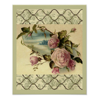 Poster Porte de roseraie victorienne par l'affiche de mer