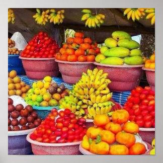 Poster PORTEZ DES FRUITS pour l'initia vivant sain de