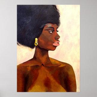 Poster Portrait africain de femme de juin (art de