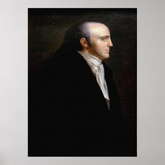 Poster Portrait de BAVURES d'AARON par John Vanderlyn