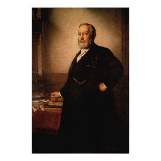 Poster Portrait de BENJAMIN HARRISON par Eastman Johnson