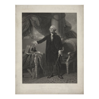 Poster Portrait de GEORGE WASHINGTON par Henry S. Sadd