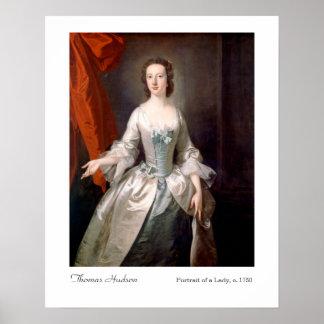 Poster Portrait de Thomas le Hudson de Madame Art Print