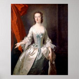 Poster Portrait de Thomas le Hudson de Madame beaux-arts