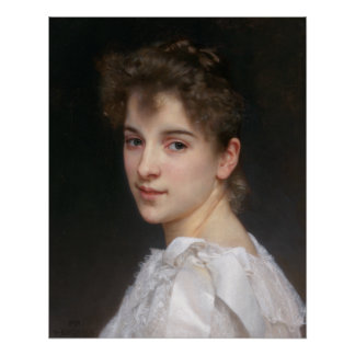 Poster Portrait de William Bouguereau de berceau de