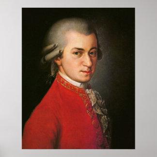 Poster Portrait de Wolfgang Amadeus Mozart