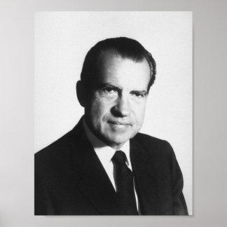Poster Portrait du Président Richard Nixon