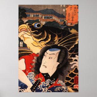 Poster Portrait d'un acteur avec un poisson