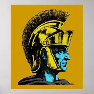Poster Portrait romain d'art de bruit de gladiateur