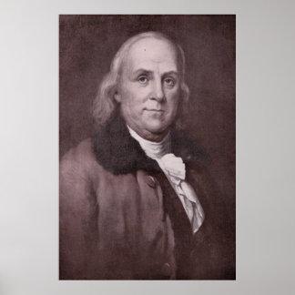 Poster Portrait vintage de Benjamin Franklin