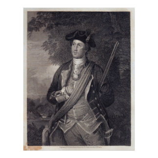 Poster Portrait vintage de George Washington