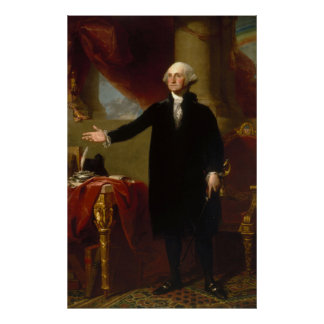 Poster Portrait vintage de George Washington peignant 2
