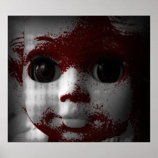 Poster Poupée morte vivante macabre