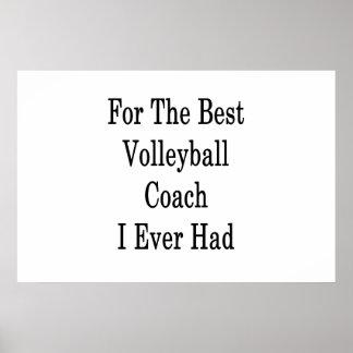 Poster Pour le meilleur entraîneur de volleyball j'ai