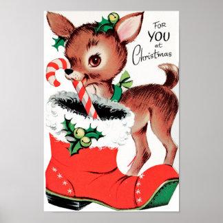 Poster Pour vous au renne de Noël