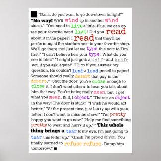 Poster Pourquoi il est si difficile d'apprendre l'anglais
