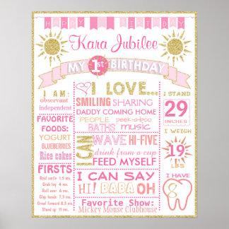 Poster Première fille d'affiche de signe de conseil