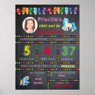 Poster Première fille de jardin d'enfants de jour, photo