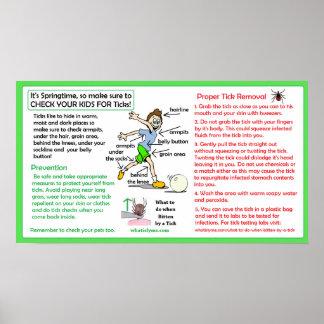 Poster Prévention des maladies appropriée de Lyme