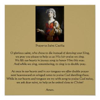Poster Prière au saint Cecilia