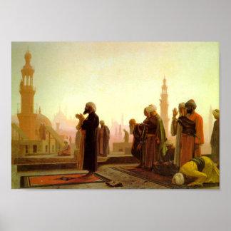 Poster Prière en affiche du Caire
