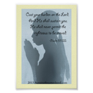 Poster Prières d'écriture sainte de bible