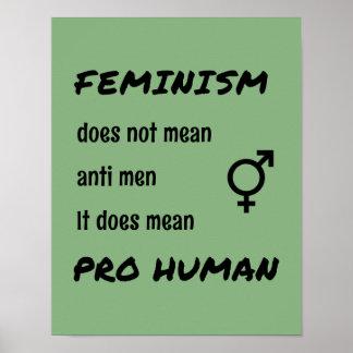 Poster Pro citation de inspiration humaine du féminisme