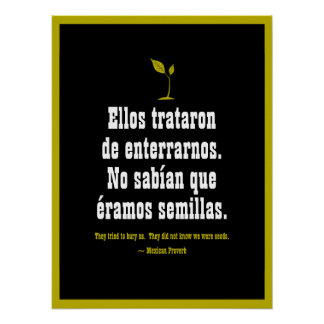 Poster Proverbe mexicain