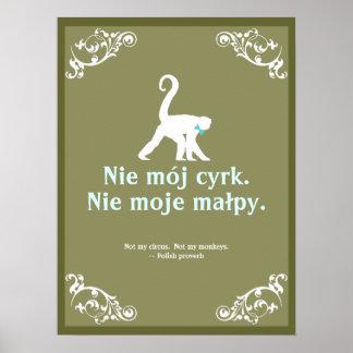 Poster Proverbe polonais